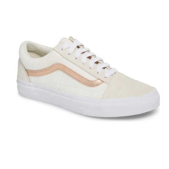 NWT Rose Gold Vans Old Skool Limited Edition NWT